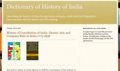 Dictionary of History of India