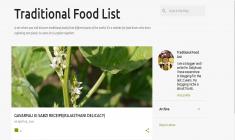 Traditional Food List