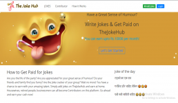 Write About thejokehub.com and Publish on your blog.