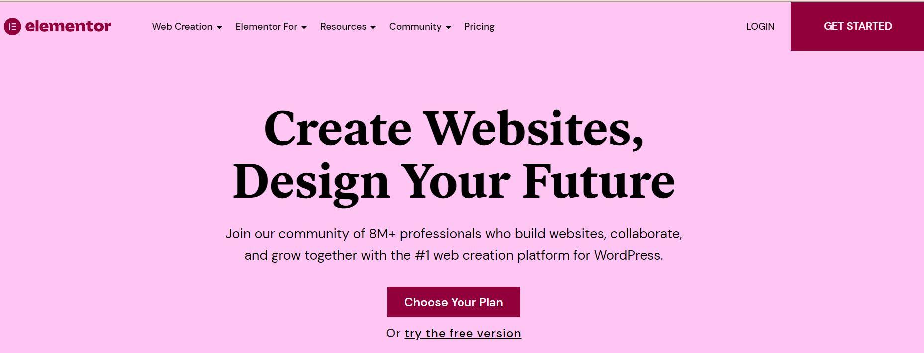 Elementor: Free Website Builder Plugin for WordPress