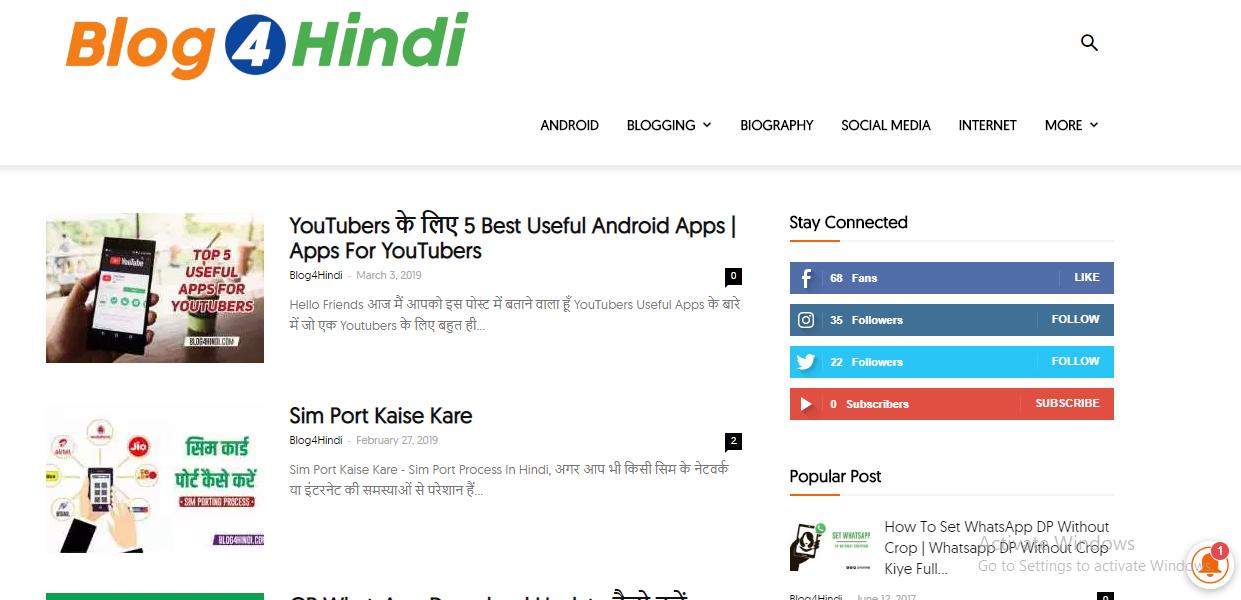 Blog4Hindi