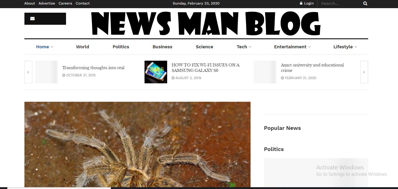 News Man Blog