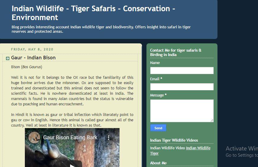 Indian Wildlife Blog