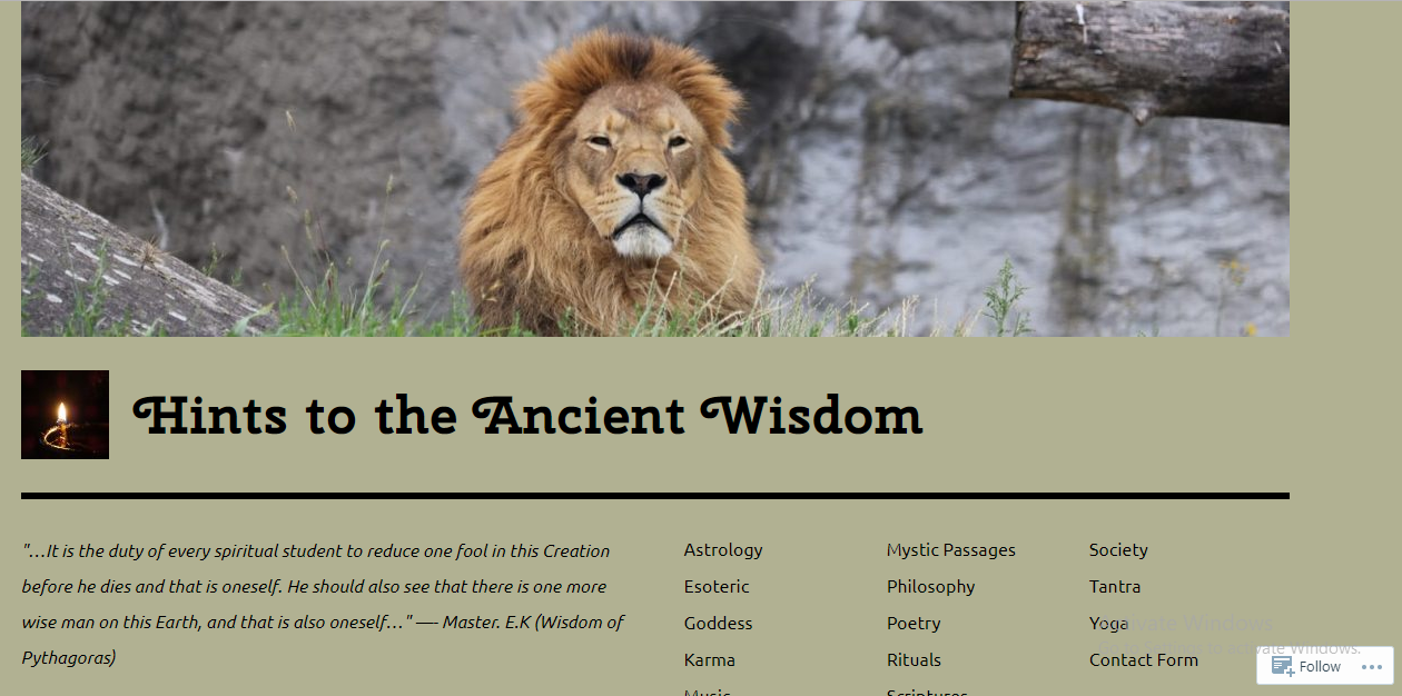 Hints to the ancient wisdom