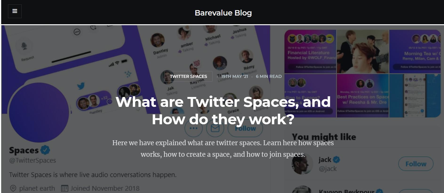 Barevalue Blog