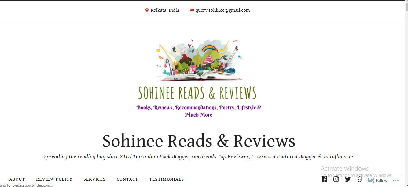 Sohinee Reads & Reviews