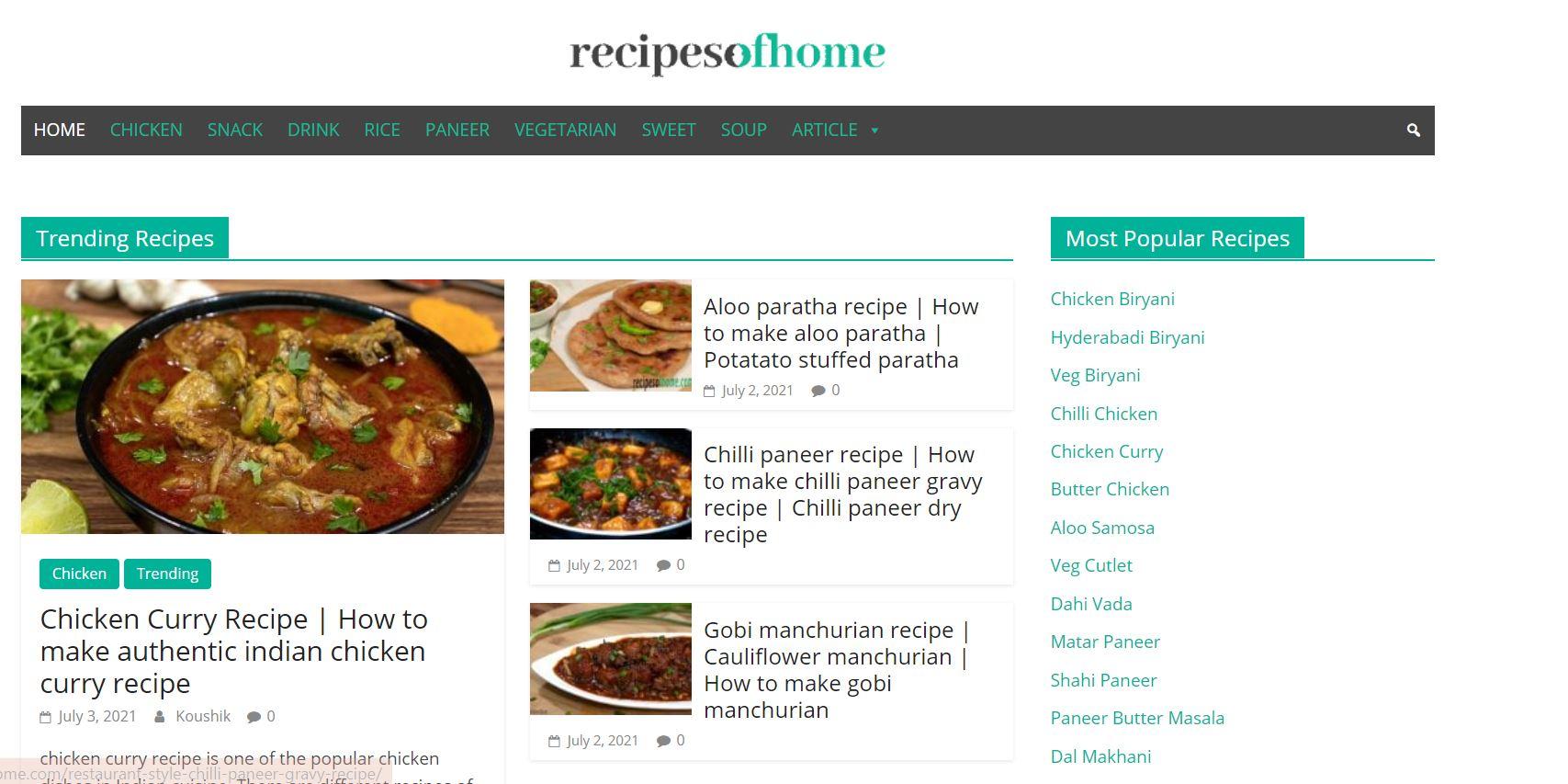 Recipes Of Home