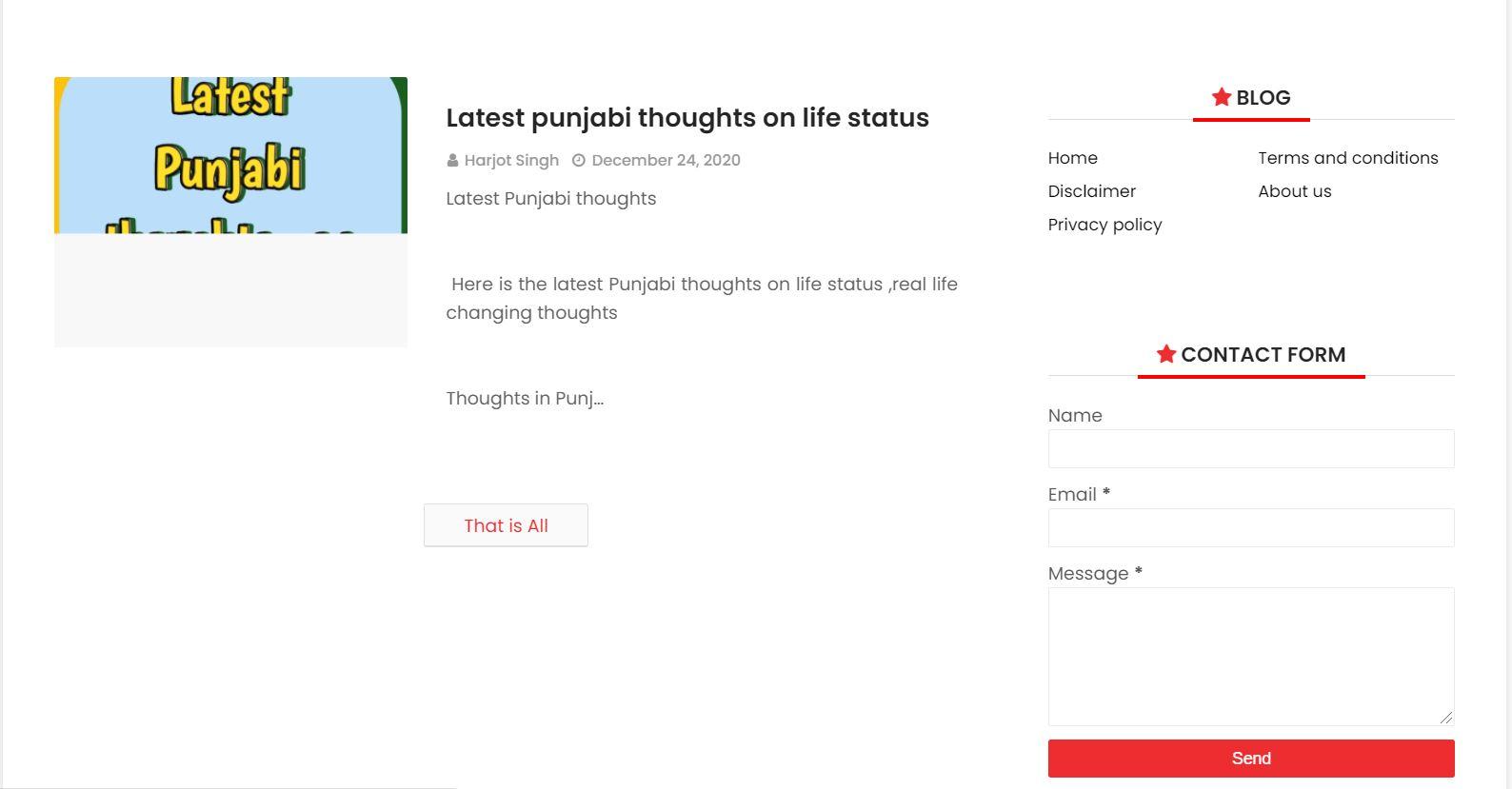Latest Punjabi thoughts