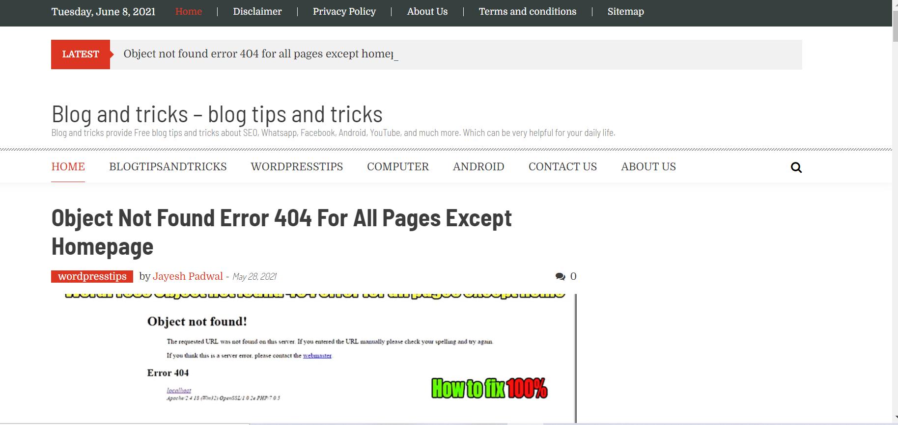 blog and tricks