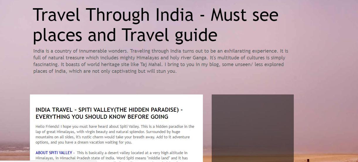 TRAVEL THROUGH INDIA