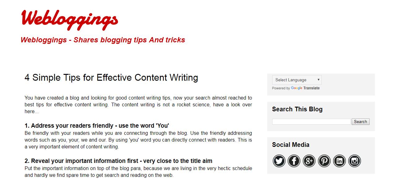 Webloggings