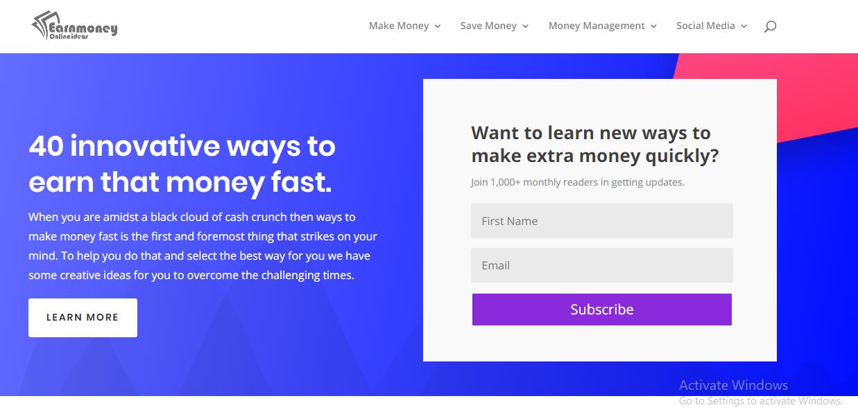 Earn Money Online Ideas