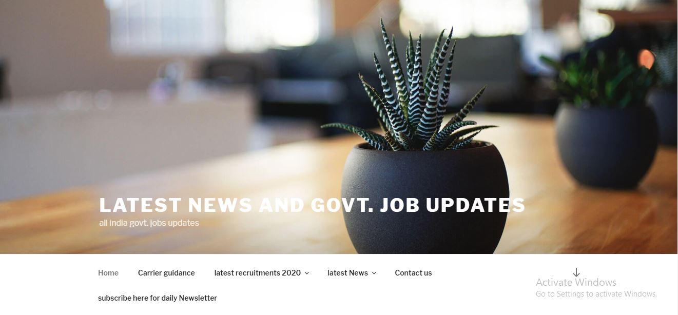 latest news and govt. job