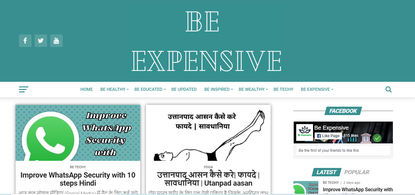 Be Expensive