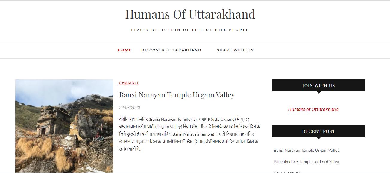 Humans Of Uttarakhand