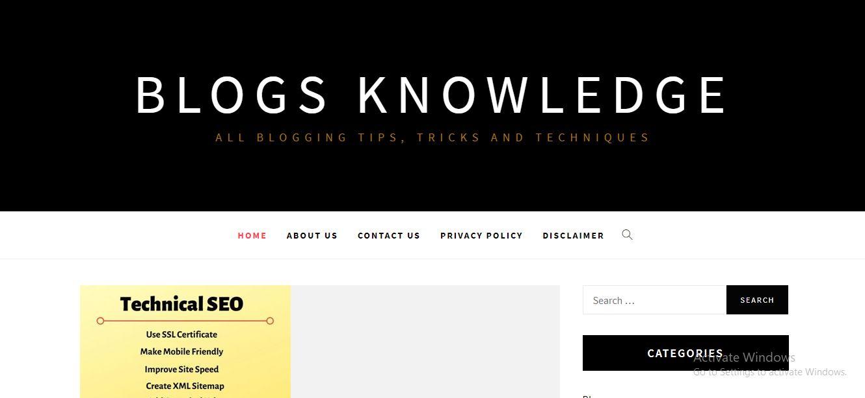 Blogs Knowledge