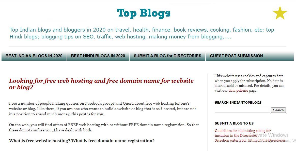 Indian Top Blogs