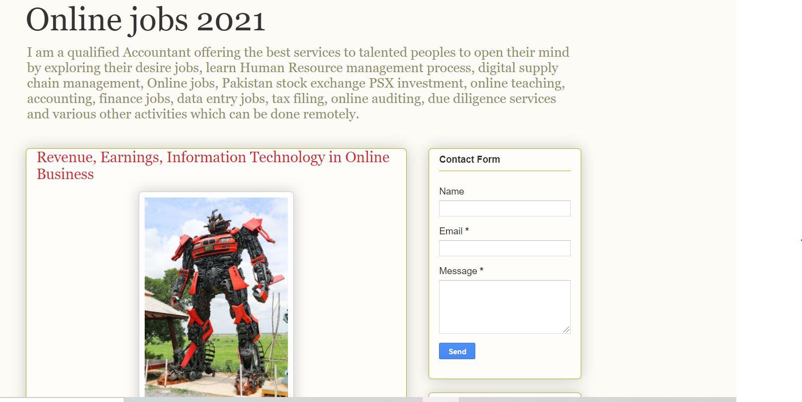 Online jobs 2021