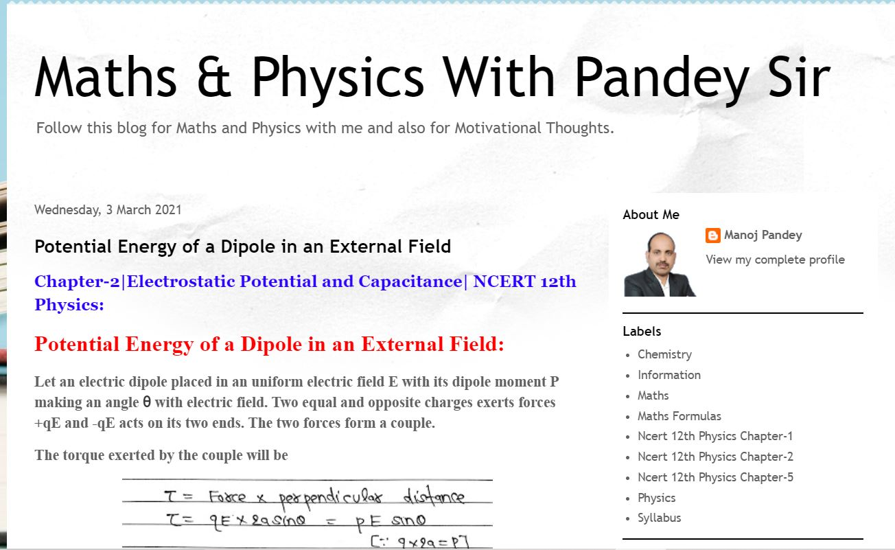 Maths and Physics with Pandey Sir