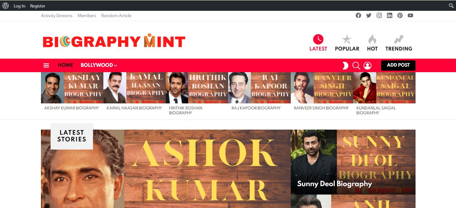 Biography Mint