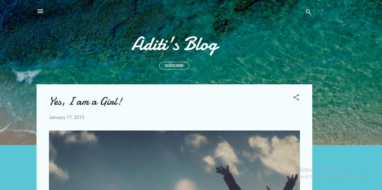 Aditi's Blog