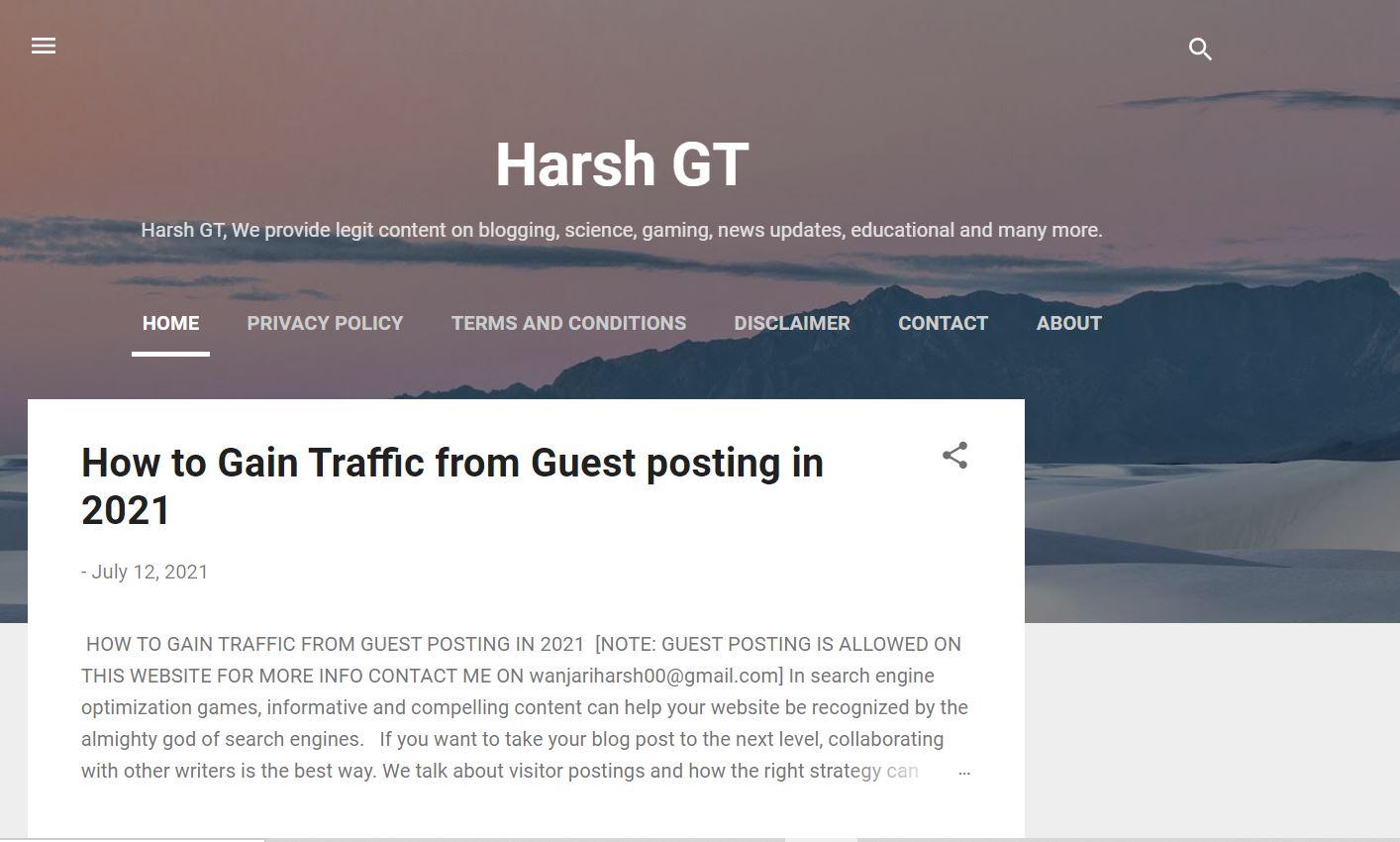 Harsh GT
