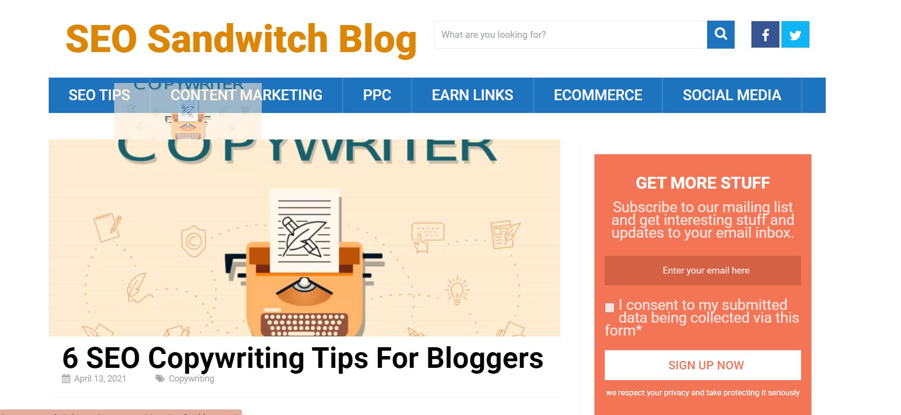 Seo Sandwitch Blog